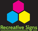 Recreative Signs | Branding specialists for Vehicles, Banners, Wall Graphics & Signs | Brighton, Sussex Logo